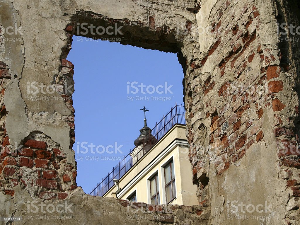Rubble in oldtown III royalty-free stock photo