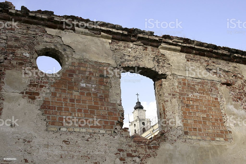 Rubble in oldtown IV royalty-free stock photo