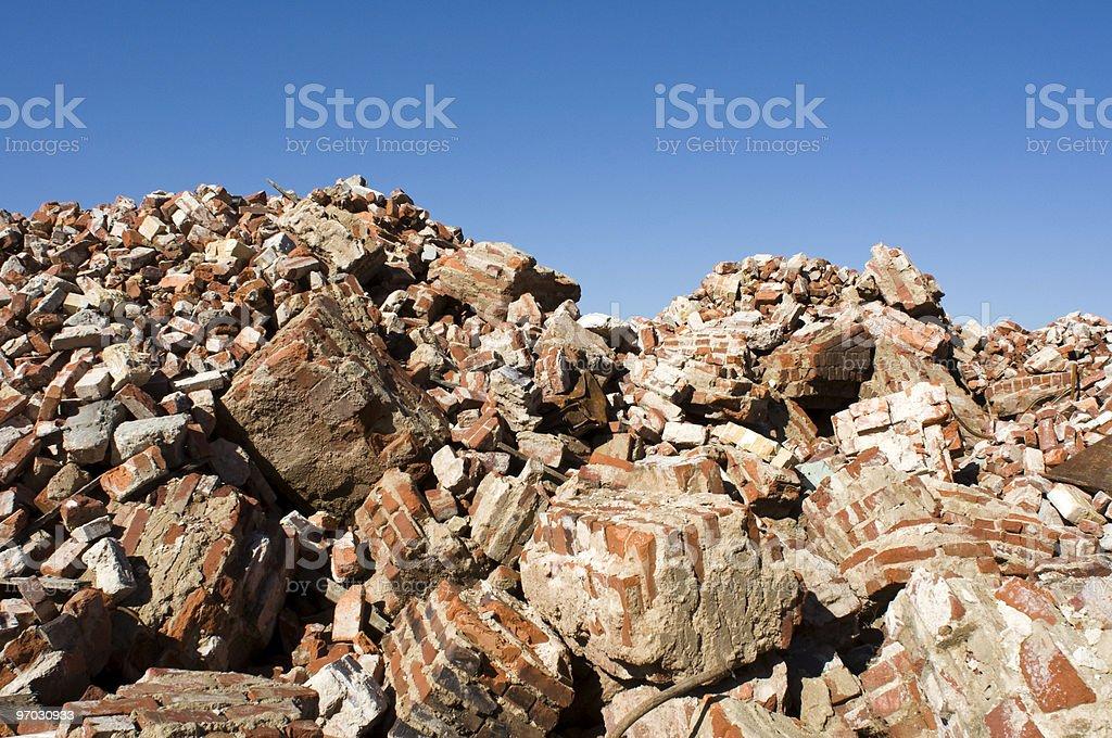 Rubble stock photo