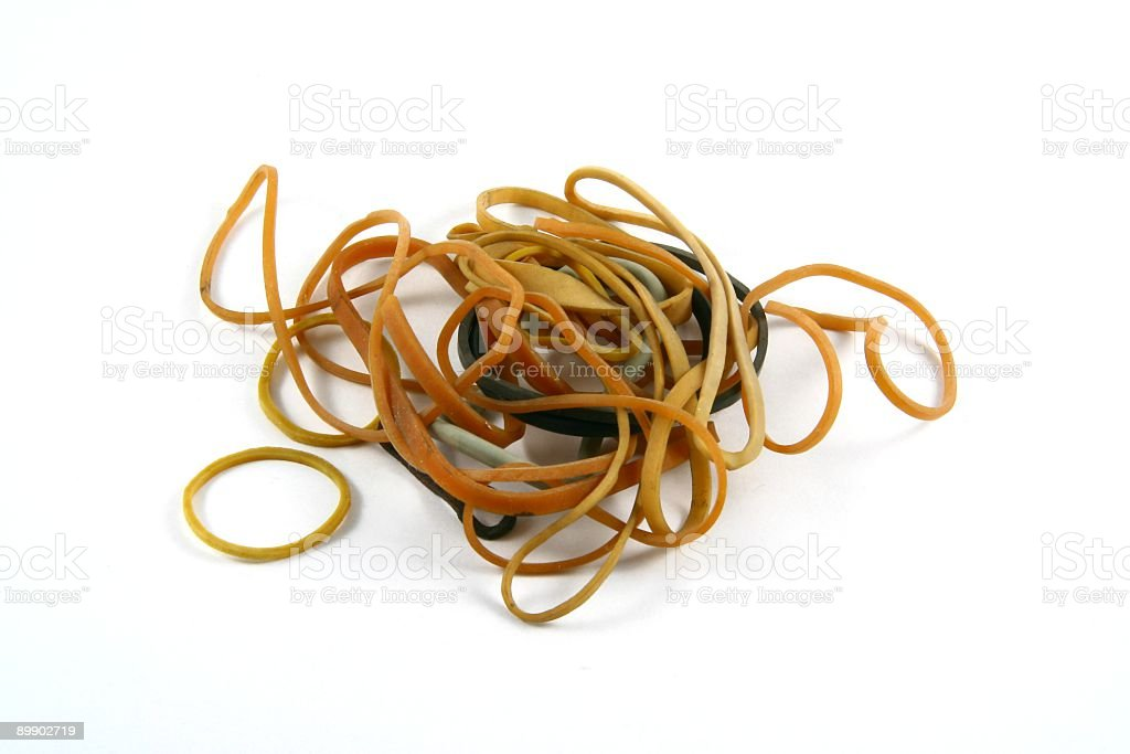 Ruber Bands royalty-free stock photo