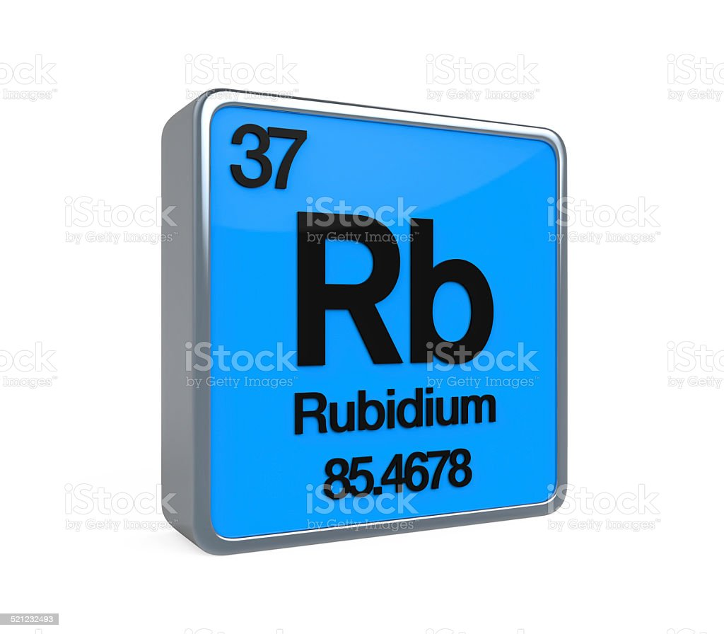Rubidium Element Periodic Table stock photo