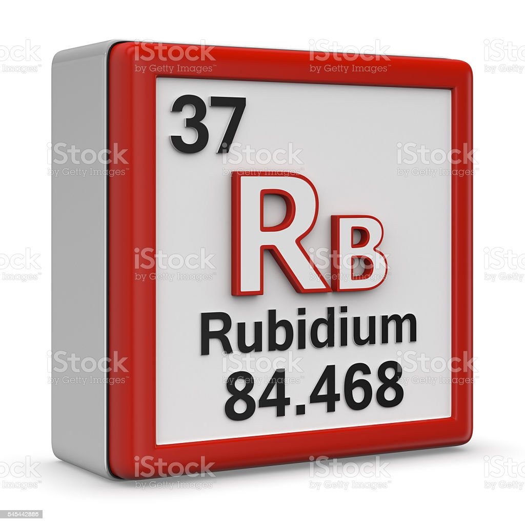 Rubidium element stock photo