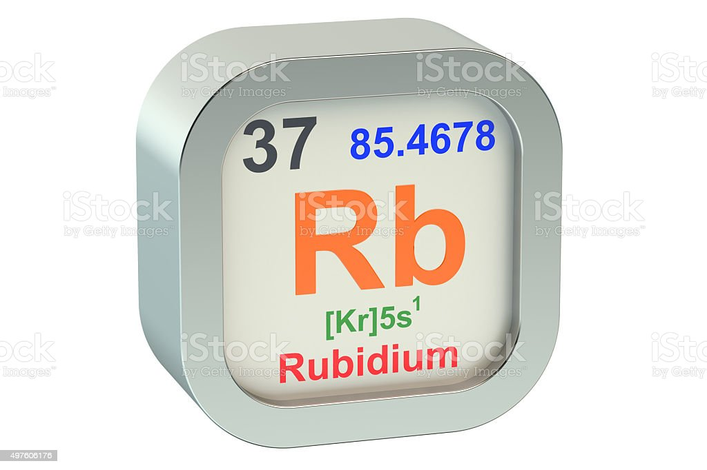 Rubidium stock photo