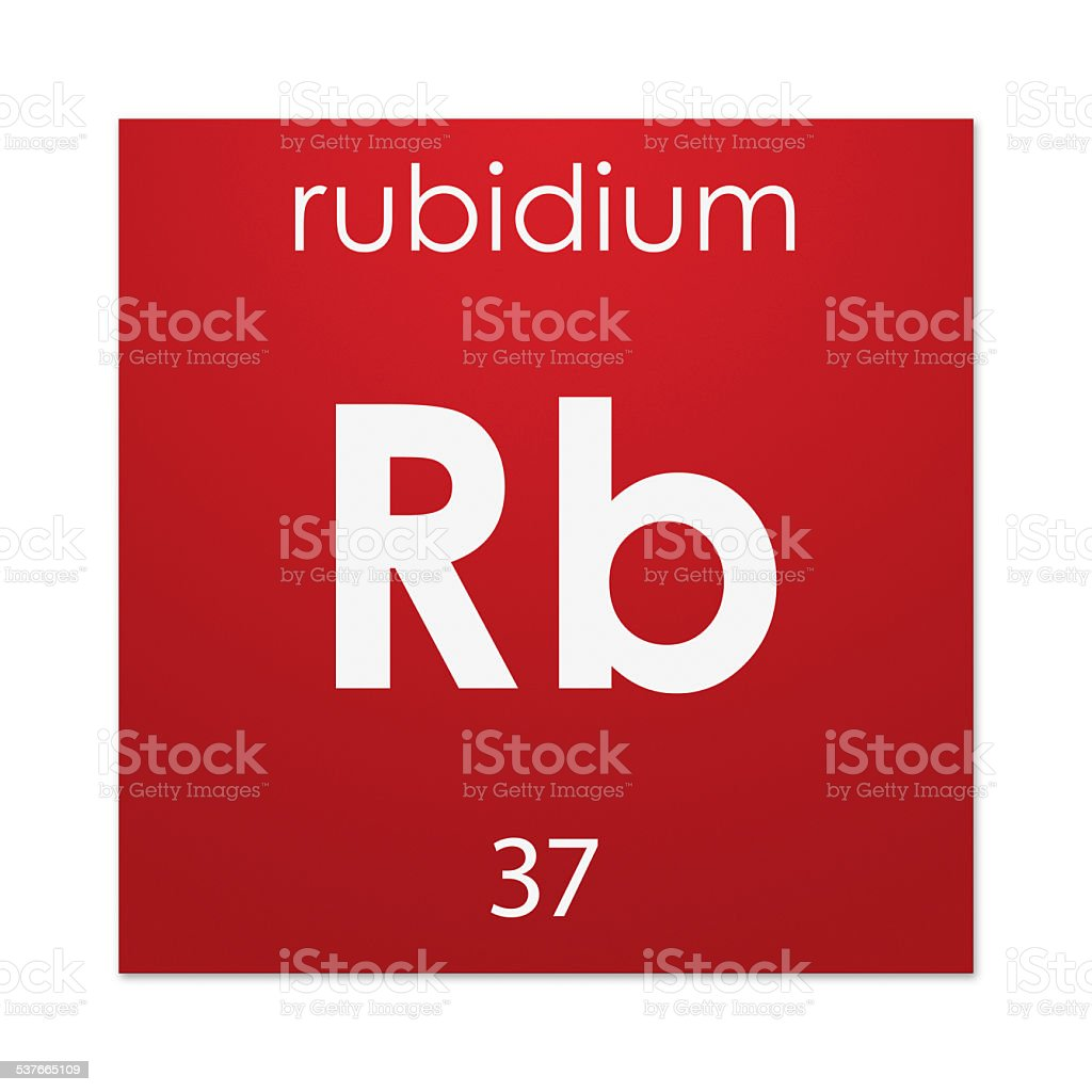 Rubidium (chemical element) stock photo