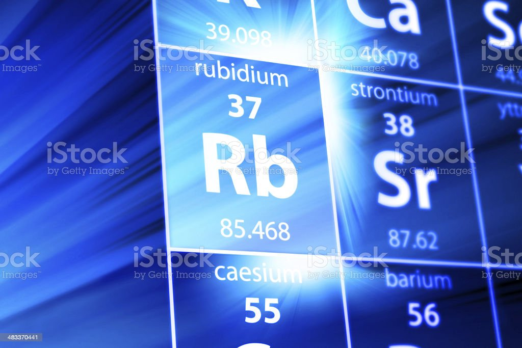 Rubidium Rb Periodic Table stock photo