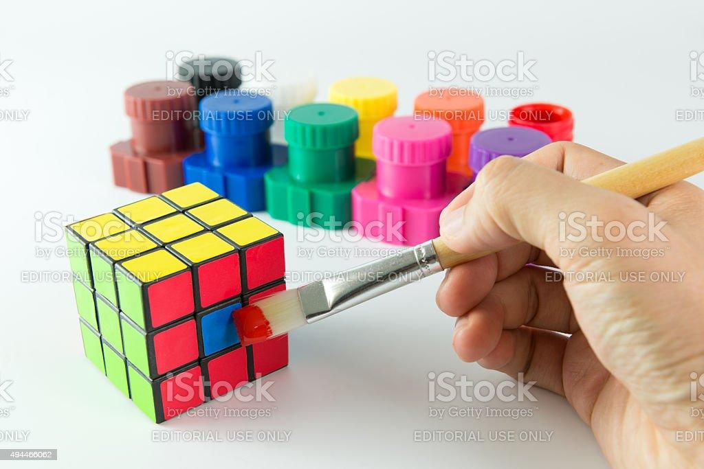 Cubo de Rubik foto de stock libre de derechos