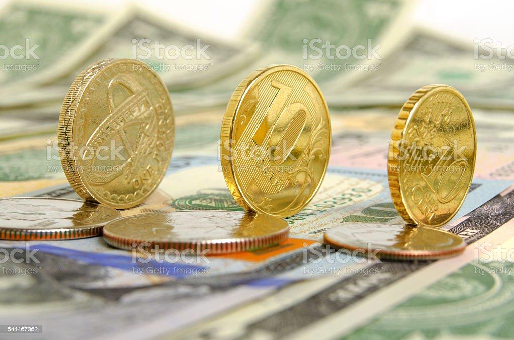 Ruble exchange rate. stock photo