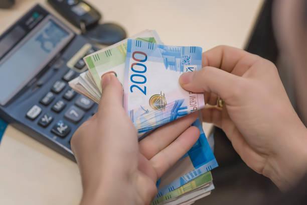 루블 돈 세 계산기 - 러시아 루블 뉴스 사진 이미지