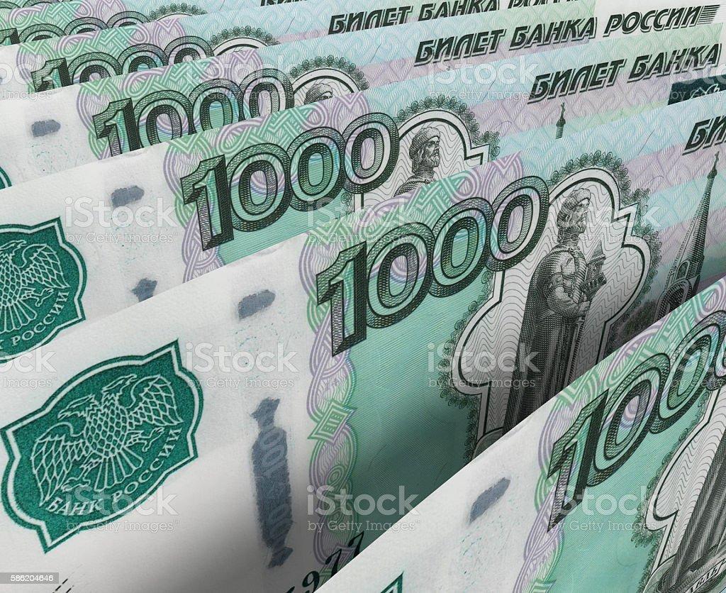 Rubles stock photo