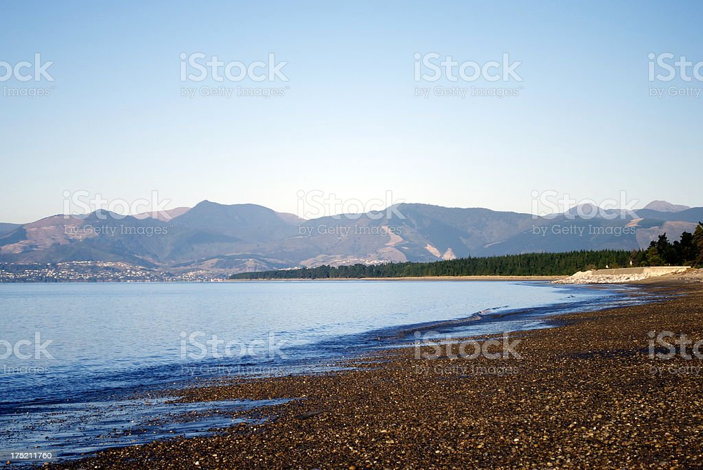 Ruby Bay Seascape, Mapua, Tasman Region, New Zealand stock photo