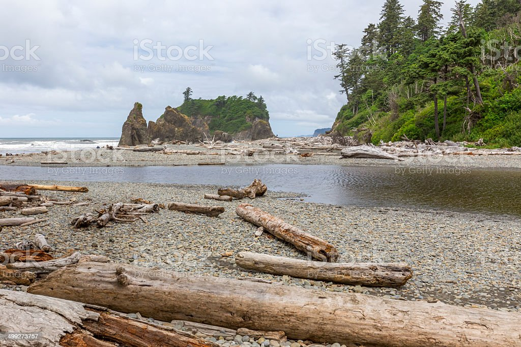 Ruby Beach at Olympic National Park stock photo