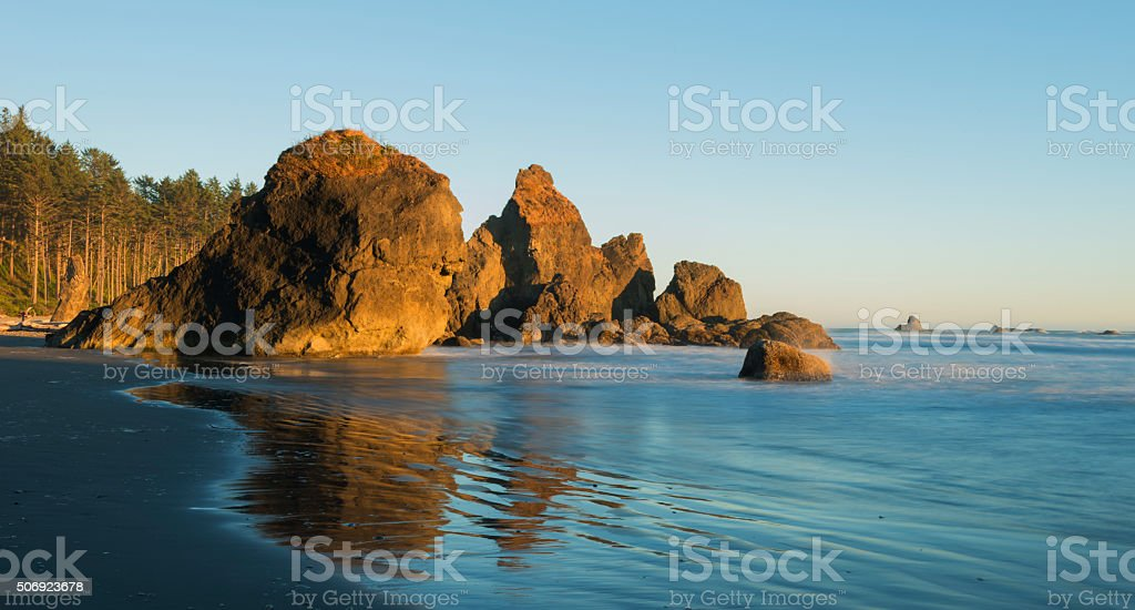 Ruby Beach in the Summer stock photo