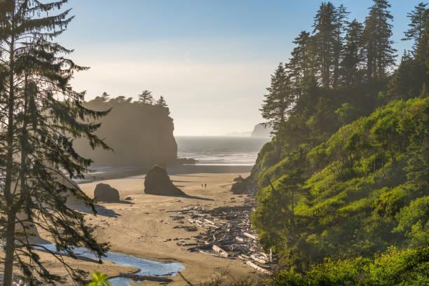 Ruby Beach, Olympic National Park, Washington, USA stock photo