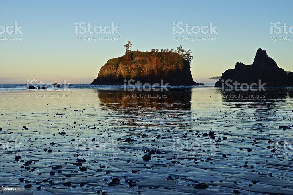 Ruby Beach Pebbles stock photo