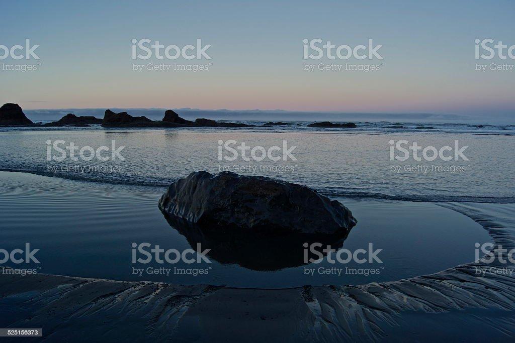 Ruby Beach Rock stock photo