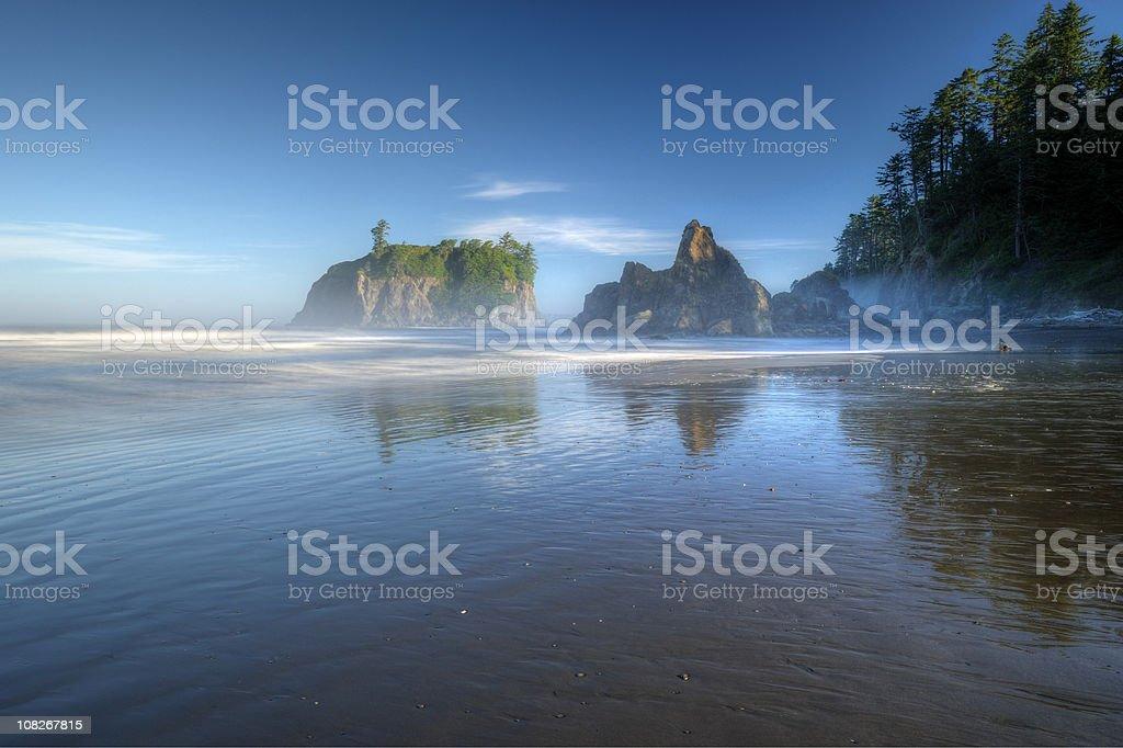 Ruby Beach: Rocky Shoreline stock photo