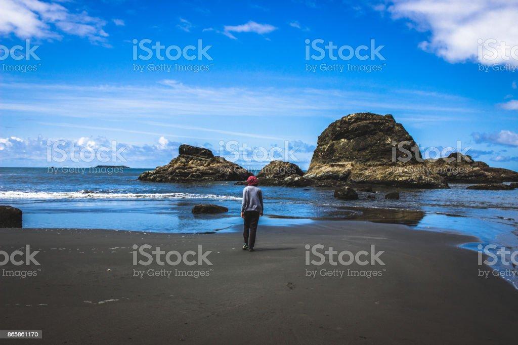 Ruby Beach Tide Pools stock photo