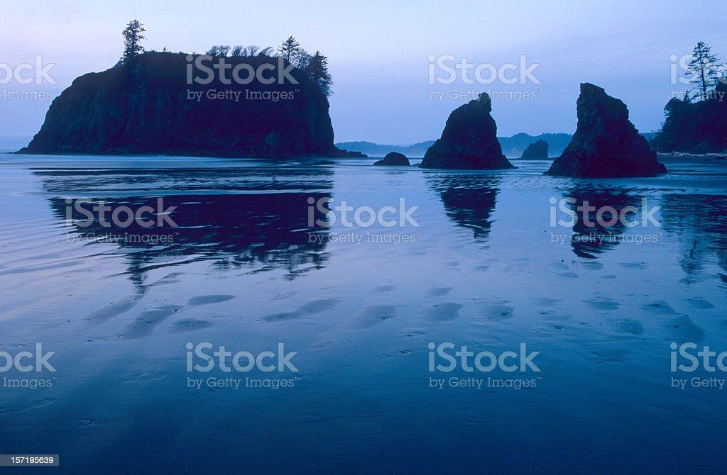 Ruby Beach Twilight stock photo