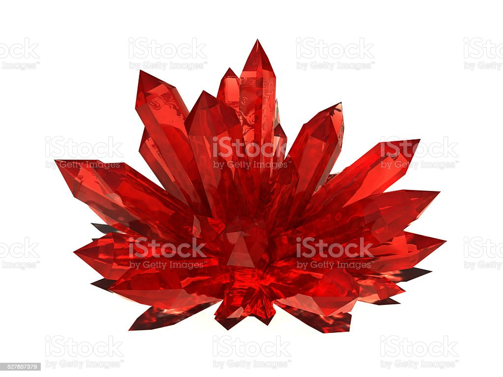 Ruby druze stock photo