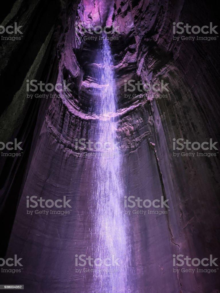 Ruby Falls - Illuminated View stock photo