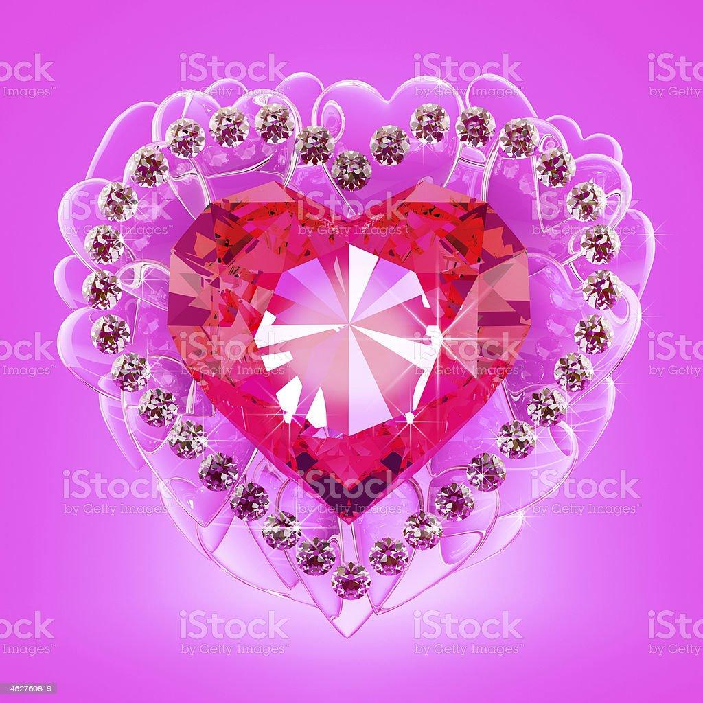 Ruby heart royalty-free stock photo