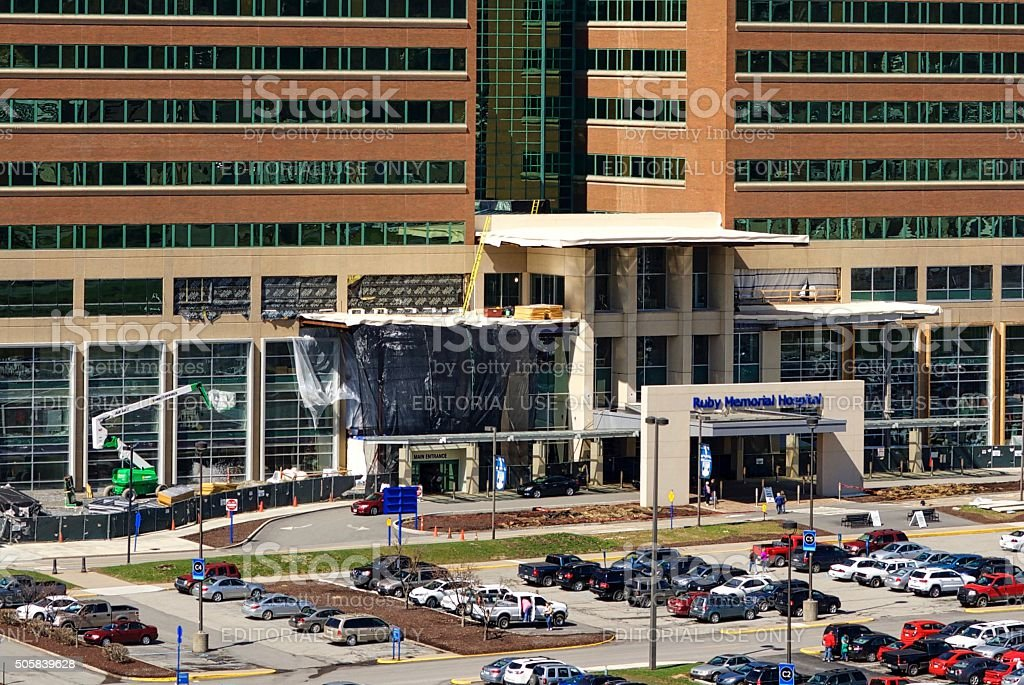 Ruby Memorial Hospital at West Virginia University stock photo