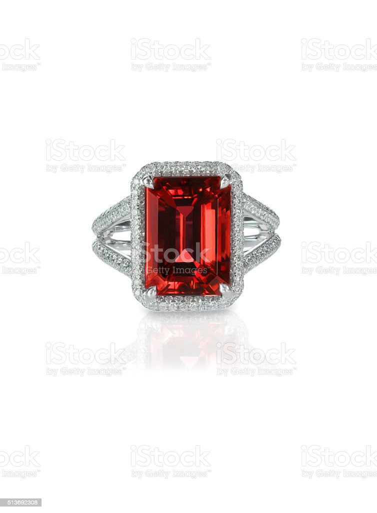 and red peridot for women ruby engagement carat ring in gold diamond round white halo cut