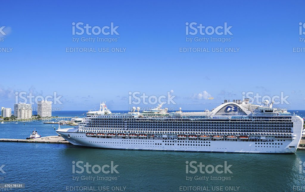 Ruby Princess in Port Everglades stock photo