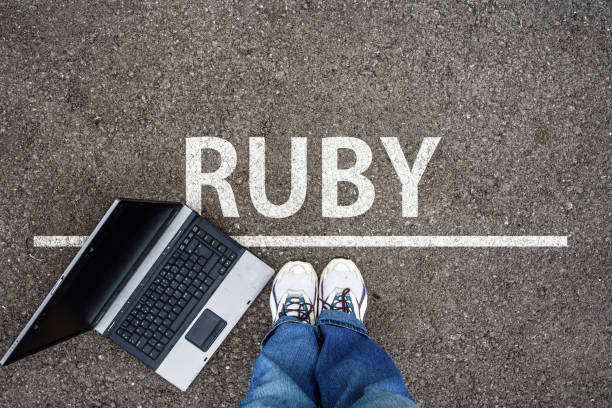 Ruby programming language stock photo