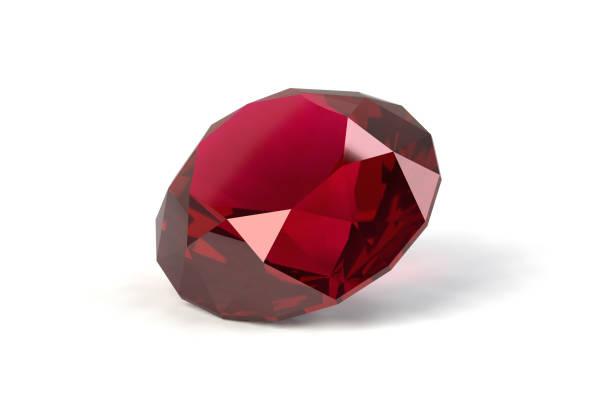 Ruby, Red Gemstone, Jewelry stock photo