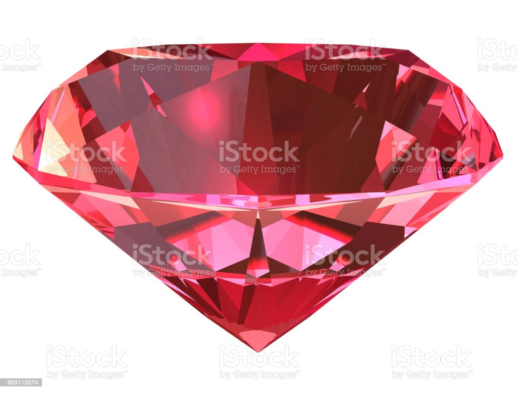 Ruby side view 3D illustration stock photo
