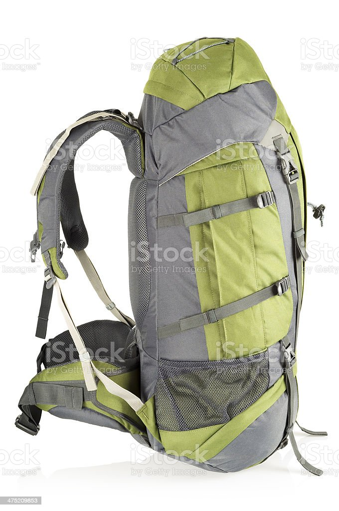 Rucksack, isolated royalty-free stock photo