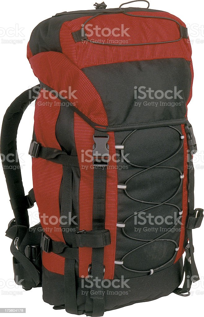 Rucksack with clipping path, Travel Luggage stock photo