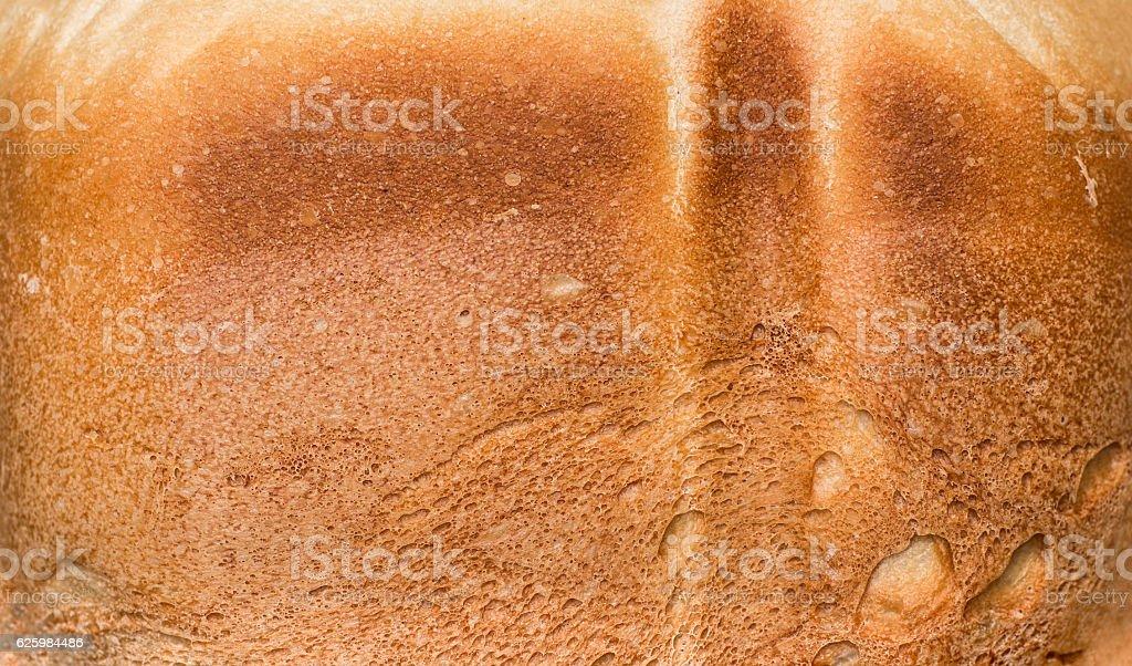 Ruddy crust of bread stock photo