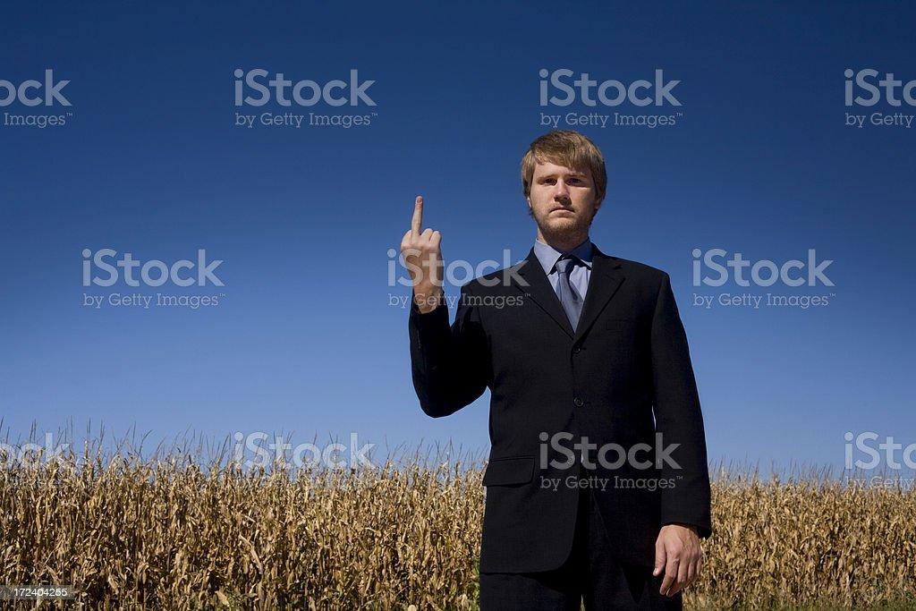 rude businessman stock photo