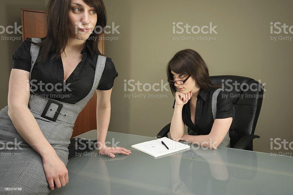 Rude Employee Businesswoman royalty-free stock photo