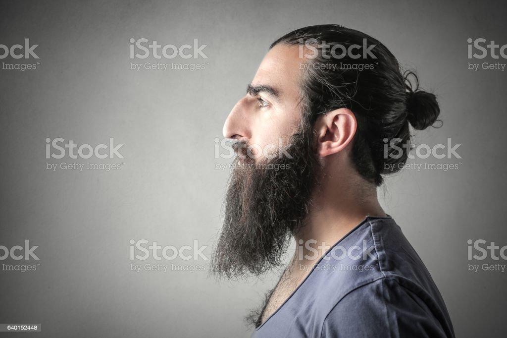 Rude man stock photo