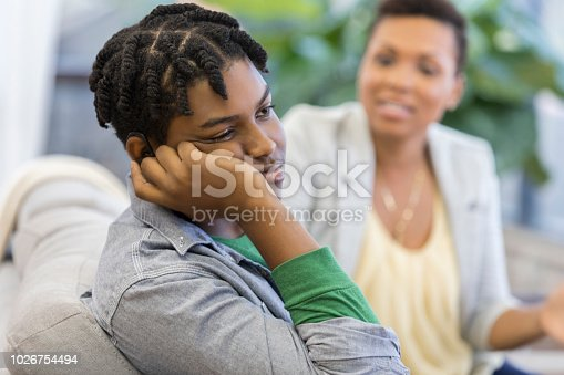 istock Rude teenager ignores his mom 1026754494