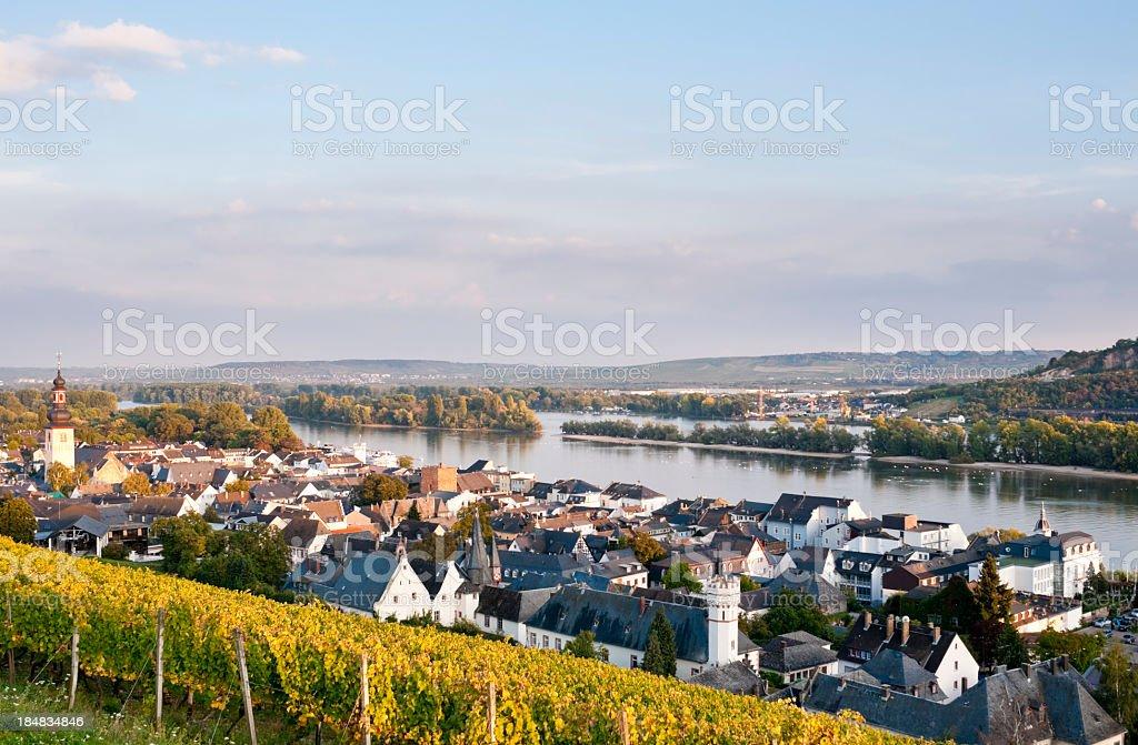 Rudesheim in Germany stock photo
