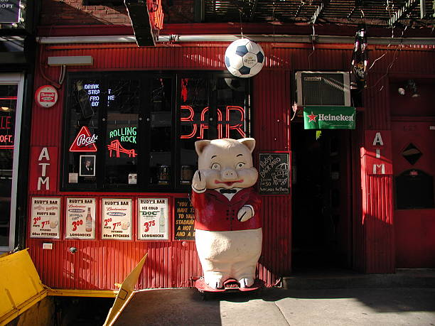 Rudys Bar Grill Storefront In Midtown Nyc 2003 Stock Photo