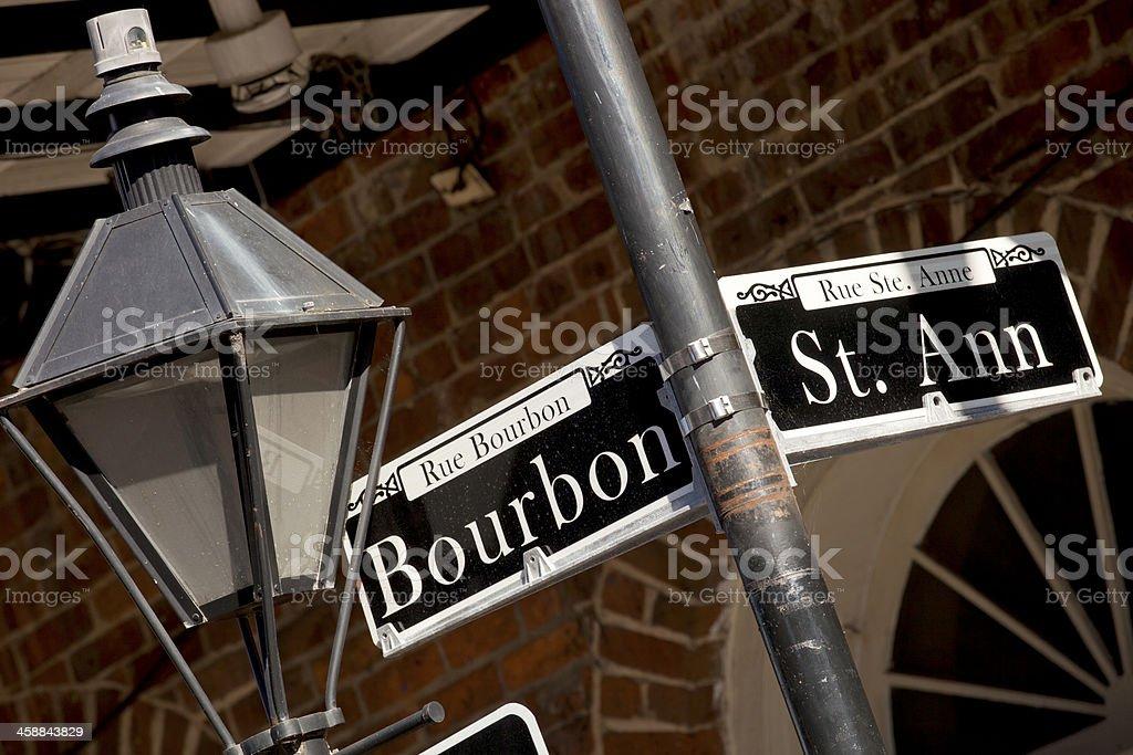 Rue Bourbon Street  - New Orleans royalty-free stock photo