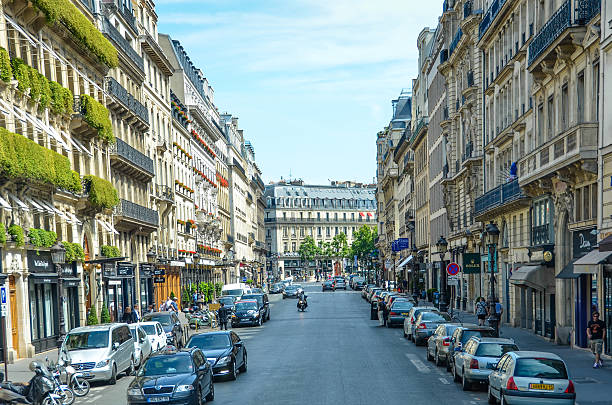 Rue de la Paix in Paris stock photo