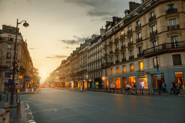 Rue de Rivoli, Paris, France stock photo
