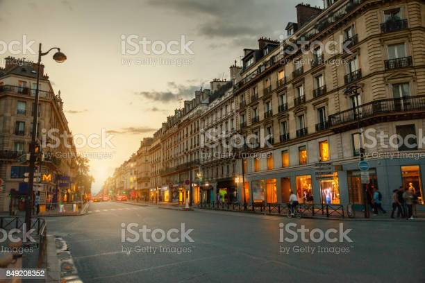 Rue De Rivoli Paris France Stock Photo - Download Image Now