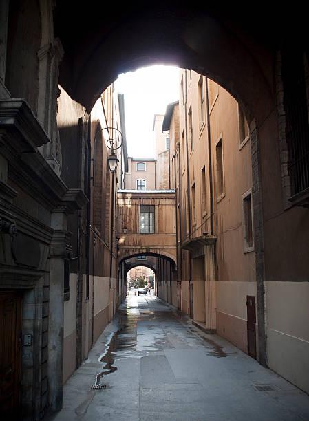 Rue Menestrier, Lyon stock photo