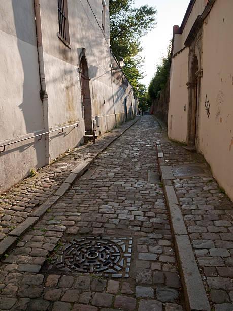 Rue Montauban stock photo