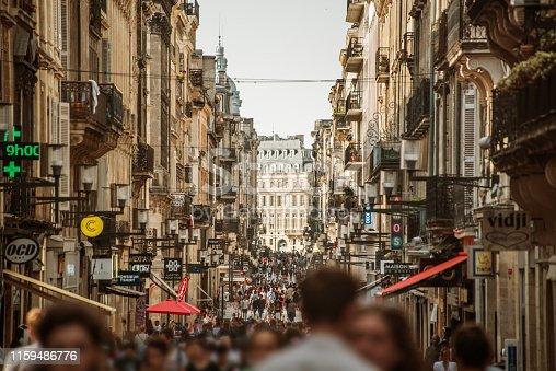 istock Rue Sainte-Catherine in Bordeaux, France 1159486776