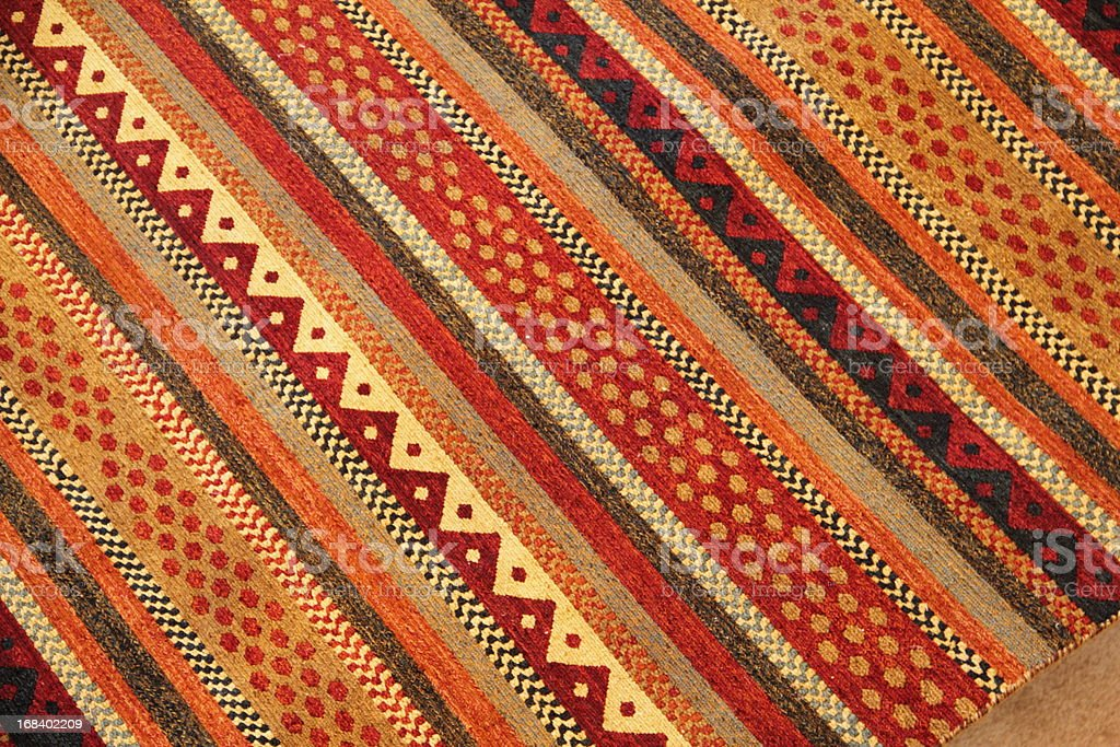 Rug Blanket Southwestern Mexican royalty-free stock photo