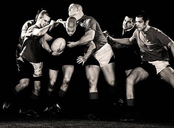 rugby acción. - rugby fotografías e imágenes de stock