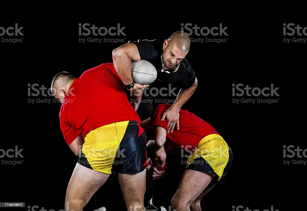 Rugby action royalty-free stock photo